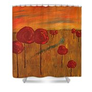Appletrees Shower Curtain