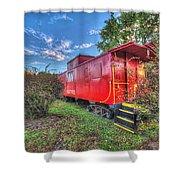 Appomattox Park Caboose Shower Curtain