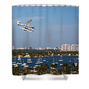 Approach And Landing In Paradise  Shower Curtain