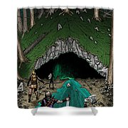 Approach To The Kobold Caves Shower Curtain