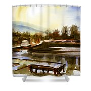 Approaching Dusk IIb Shower Curtain by Kip DeVore