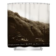 Approaching Dust Storm In Middle West By Frank D. Conard Circa 1938 Shower Curtain