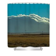 Grassland Approaching Humphreys Peak Shower Curtain