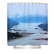 Approaching Juneau Shower Curtain