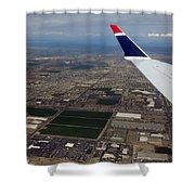 Approaching Phoenix Az Wing Tip View Shower Curtain