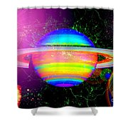 Approaching Saturn From The East Shower Curtain