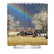 Approaching Storm At Cattle Ranch Shower Curtain