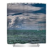 Approaching Storm At Whale Harbor Shower Curtain