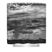 Approaching Storm Black And White Shower Curtain by Douglas Barnard