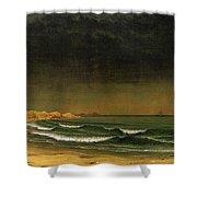 Approaching Storm Near Newport Beach Shower Curtain by Martin Heade