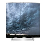 Approaching Storm Over Belton-sunset Shower Curtain