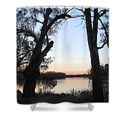 Approaching Sunset Silhouettes Shower Curtain