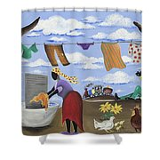 Approaching The Finish Line Shower Curtain