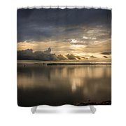 Approaching The Golden Hour Shower Curtain