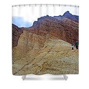 Approaching The Jagged Peaks In Golden Canyon In Death Valley National Park-california  Shower Curtain