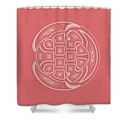 Apricot Circle Abstract Shower Curtain