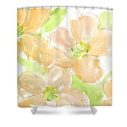 Apricot Quince Shower Curtain