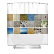 April Beach 2.0 Shower Curtain
