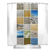 April Beach Shower Curtain by Michelle Calkins