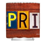April License Plate Name Sign Fun Kid Room Decor Shower Curtain