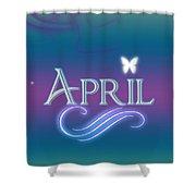 April Name Art Shower Curtain