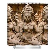 Apsara - Angkor Wat Shower Curtain