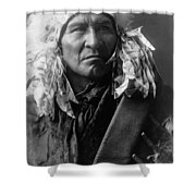 Apsaroke Indian Man Circa 1908 Shower Curtain by Aged Pixel