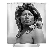 Apsaroke Medicine Man Shower Curtain