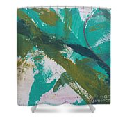 Aqua And Green Shower Curtain