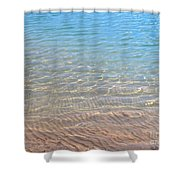 Aqua Art Shower Curtain