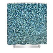 Aqua Diamonds Shower Curtain