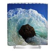 Aqua Dome Shower Curtain by Sean Davey