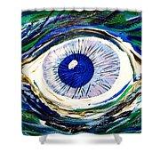 Aqua Eye Shower Curtain
