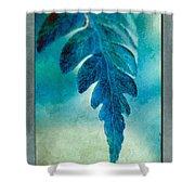 Aqua Fern Shower Curtain