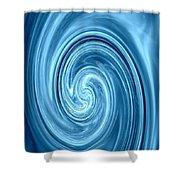 Aqua Lagoon Abstract Shower Curtain