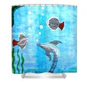 Aqua Life Shower Curtain