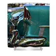 Aqua Marine Blue Chevy Shower Curtain