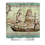 Aqua Maritime 1 Shower Curtain