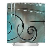Aqua Mist By Madart Shower Curtain