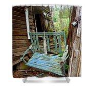 Aqua Porch Swing Shower Curtain