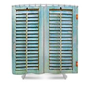 Aqua Shutters Shower Curtain