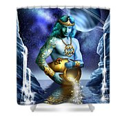 Aquarius Shower Curtain by Ciro Marchetti