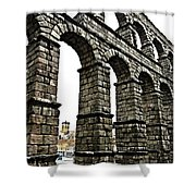 Aqueduct Of Segovia - Spain Shower Curtain by Juergen Weiss
