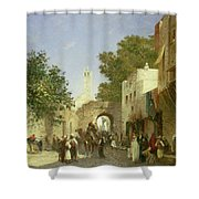 Arab Street Scene Shower Curtain