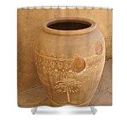 Arabian Pottery Shower Curtain