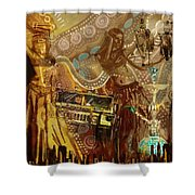 Arabian Symbolism Shower Curtain