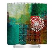 Arabic Motif 6 Shower Curtain