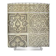 Arabic Tile Designs  Shower Curtain