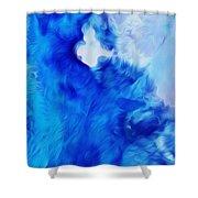 Aral Sea Watercolor Shower Curtain