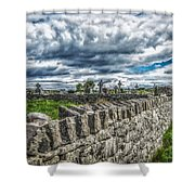 Aran Island Cemetary Ireland Shower Curtain